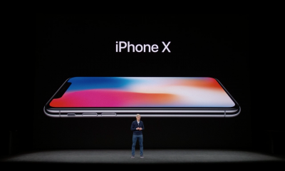 iPhone X and Tim Cook