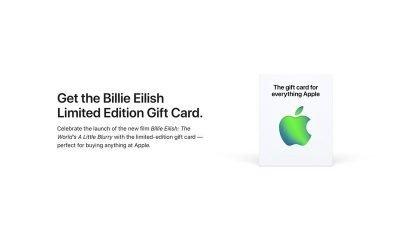 Billie Eilish Limited Edition Gift Card
