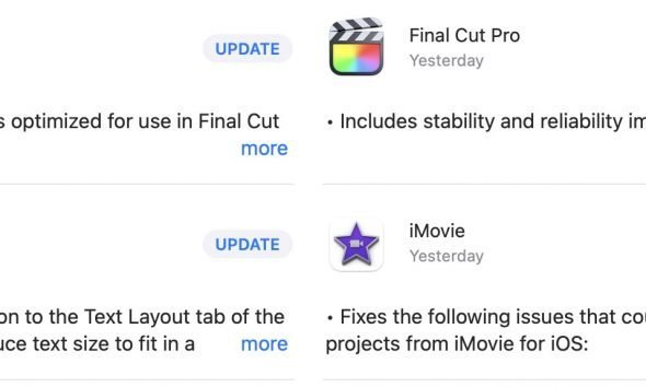 iMovie update